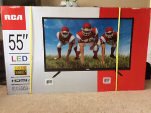 """Brand new in box 55"""" RCA led tv never opened"""