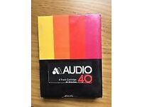 8 TRACK CARTRIDGES - BLANK UNRECORDED - 40/45 minutes - four tapes - New old stock, SEALED