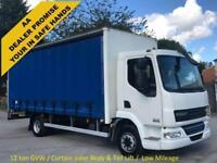 DAF LF 45 180 CURTAIN SIDE Box Van + T/Lift Low Mileage 12Ton GVW
