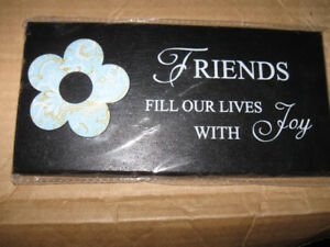 Friends Fill Our Lives With Joy-Desk/Mantle Plaque-New + more