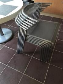 6 ikea ELMER chrome chairs