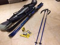 Atomic Beta Carv Skis + bindings + Scott poles + Toko care kit