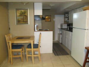 Small furnished basement apartment