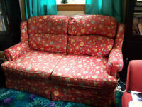 Large 2 Seater Sprung Sofa Bed Red Multi Marks & Spencer