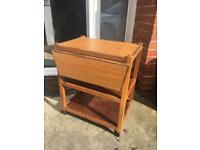 Food trolley folding table looks home made must be 60 years old
