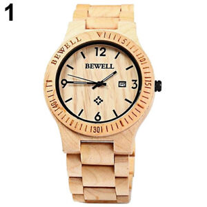 Handcrafted Natural Maple Watch 100% (NEW)
