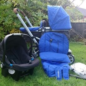 Mothercare Xpedior Pram/Pushchair/Travel System in Royal Blue
