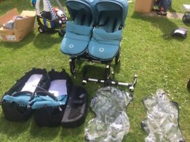 Bugaboo Donkey Twin with accessories