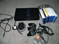 Sony Playstation 2 console and other bits