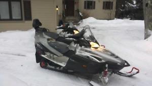 Motoneige Yamaha avec remorque double