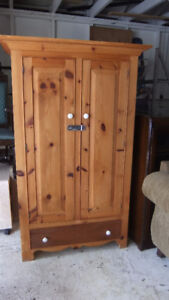 solid pine wardrobe in exc cond