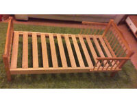 Stylish Wooden Toddler Bed Frame Only For Sale Bargain