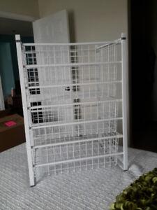 Three Drawer Wire Storage Unit