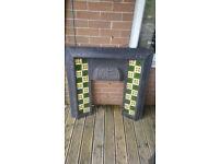 cast iron tiled fire surround