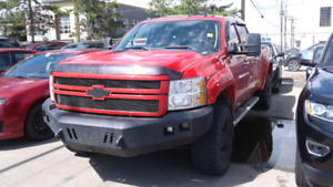 2012 Chevrolet Silverado 2500 LTZ Crew Cab Red 4x4 Custom Lifted