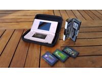 Coral Pink Nintendo DS Lite and Games Bundle