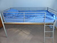 Kid's metal frame cabin style single bed frame