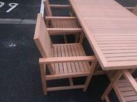 Neverwood 6 seat garden furniture set
