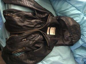 Garage leather jacket never worn Lg