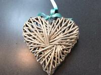 Large wicker hearts x 11 - wedding