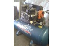 Nu-air 150ltr air compressor,excellent working order, single phase (230v) ×2 outlets,