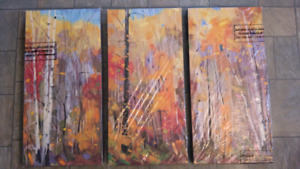 3 pc. Birch Tree Art