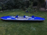 Sevylor Hudson 3 seat canoe (inflatable with pump and oars included)