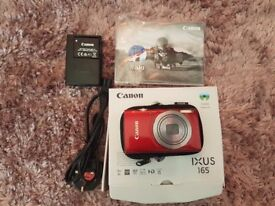Canon Ixus 165 digital camera, like new condition