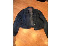 Cropped Denim Jacket Size M