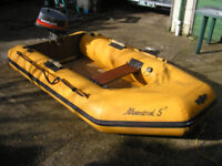 Maestral 5 Inflatable boat and Mariner 4HP Outboard
