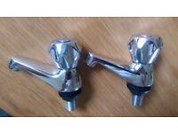 2 matching pairs of taps - bath & basin