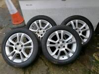 "Vauxhall Corsa D 16"" SXi alloys with tyres"