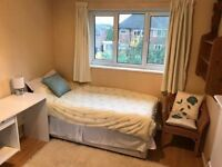 Furnished single room + private bathroom in quiet family house in highly desirable area of Earley