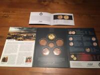 Solid bronze pure gold plated Waterloo Medal with presentation pack and paperwork in mint condition