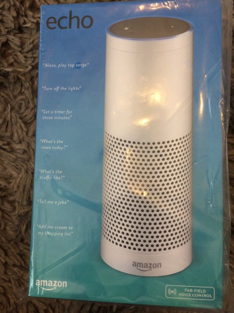 Amazon echo BRAN NEW SEALEDin Denton, ManchesterGumtree - AMAZON ECHO FOR SALE BRAN NEW SEALED BOX This was a gift for a family member who now already has this item I have the profe of perchase from amazon cost was 159 so bargain at this price. Your welcome to open and try it check that all is working No...