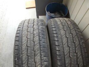 2 general grabber tires,255/70/17 , hartland area