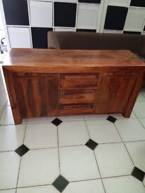 beautiful solid wood side board
