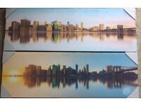 Canvas Prints of New York Skyline x 2