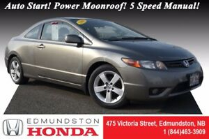 2008 Honda Civic Coupe LX Auto Start! Power Moonroof! 5 Speed Ma