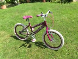 Raleigh Krush Girls Bike 18 inch wheels