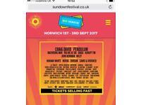 2 x VIP Sundown tickets