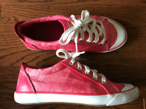 Pink COACH Tennis Shoes