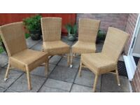 4 wicker dining chairs