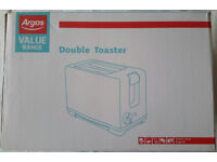 Argos Double Slice Toaster White 800W BARGAIN! JUST £3! PERFECT FOR STUDENTS OR EXTRA KITCHEN ROOM!