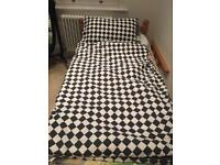 Double bed duvet and pillow (comes with funky nursery bed linen)