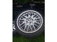 BMW MV1 3 series E46 alloy wheels with tyres