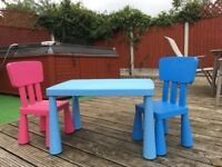 Childrens Ikea Table & Chairs