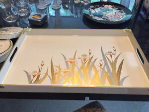 1950's Vintage Otagiri Lacquer Tray and Coasters