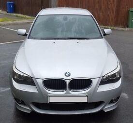 BMW 520D M Sport Silver F+R Parking Sensors