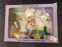 Finger puppet and book set